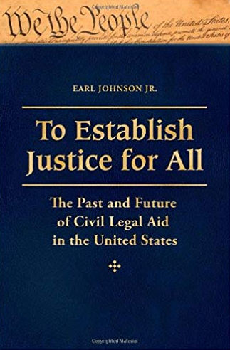 To Establish Justice for All by Earl Johnson, book cover